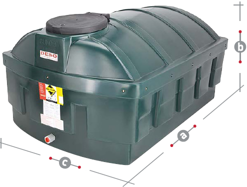 DESO LP1200BT Bunded Plastic Oil Tanks For Sale
