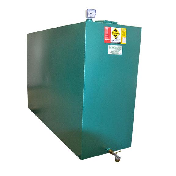 1350L Lockable single skin oil tank