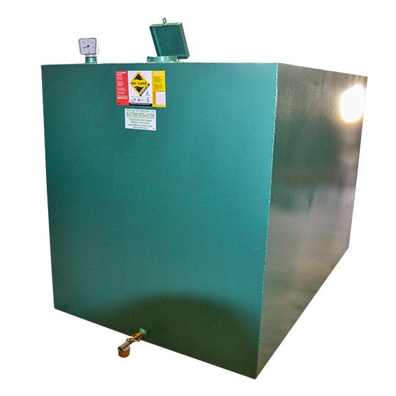 2500L Lockable single skin oil tank