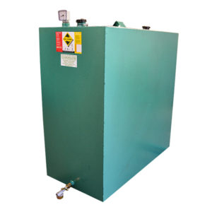 900L Single skin metal oil tank