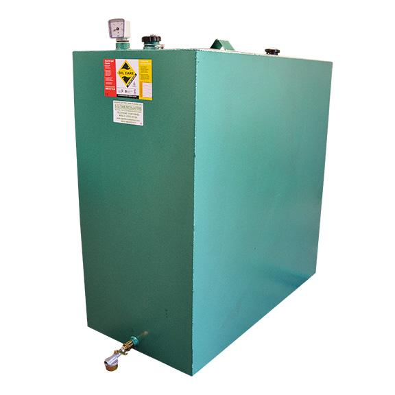 900L Single skin metal oil tank