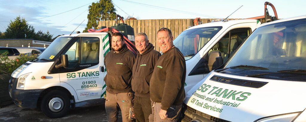 Team Standing in Front of Company Van